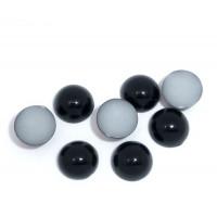 Глаза - Полубусины 4 мм, уп. 18 шт (9 пар +/-1) - черный