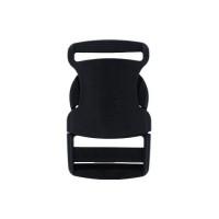 Застёжка (фастекс) пластиковая 60х32мм (внутр. 25мм) макс нагрузка 30кг чёрный, 1шт