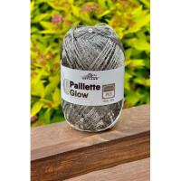 Пряжа Paillette (Пайлетте) - добав. нить с пайетками, 140 м, 25 гр, 100% Полиэстер - 61 св. серый