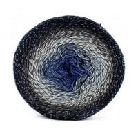 Пряжа Flowers Moonlight, YarnArt (Турция), 1000м, 260гр, 53% хлопок, 43% Полиакрил, 4% Металлик - 3275 Черно-синий