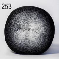 Пряжа Flowers, YarnArt (Турция), 1000м, 250гр, 55% хлопок, 45% Полиакрил - 253 Черно-серый