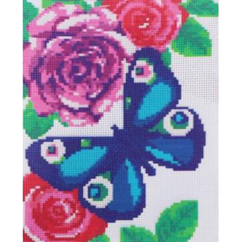 Вышивка крестиком Бабочка, 25x20см
