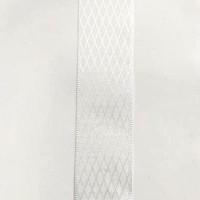 Лента декоративная 25мм Ромбики, белый, 1м