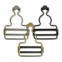 Застежки для комбинезона 32 мм, цв. никель, уп. 2 шт.