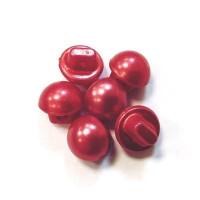 Пуговицы 10мм пластик на ножке, цвет жемчуг красный, круг, уп. 6шт
