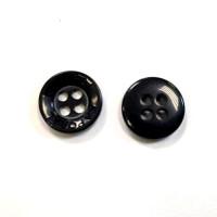 Пуговицы 11мм пластик на 4 прокола, цвет чёрный, круг, уп. 6шт (KAPORAL)