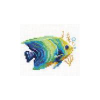 Набор для вышивания Алиса 0-150 Тропические рыбки. Изумрудная 8 х 7 см