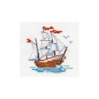 Набор для вышивания Алиса 0-159 Кораблик 7 х 8 см