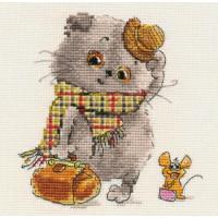 Набор для вышивания Алиса 0-177 Басик и Милена. В гости к Вам 13 х 13 см