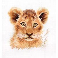 Набор для вышивания Алиса 0-194 Животные в портретах. Львенок 8 х 8 см