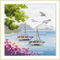 Набор для вышивания Алиса 0-203 Вид на море 7 х 7 см