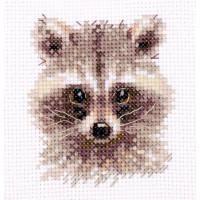 Набор для вышивания Алиса 0-208 Животные в портретах. Енотик 8 х 7 см