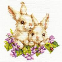 Набор для вышивания Алиса 1-11 Крольчата 15 х 16 см