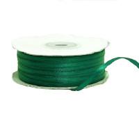 Лента атласная 3мм, катушка 82м - №126 темно-зеленый
