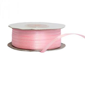 Лента атласная 3мм, катушка 82м - №004 розовый