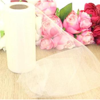 Фатин 15 см, №16 - молочно-белый, 1м