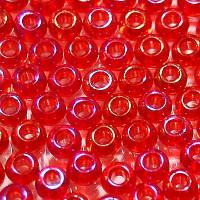 Бисер/Preciosa, 10/0, 50 гр - 91070 красный прозрачный радужный