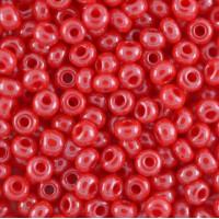 Бисер/Preciosa, 10/0, 50 гр - 98170 красный непрозрачный блестящий