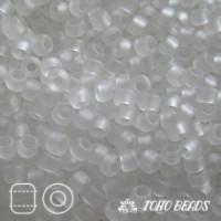 Японский бисер TOHO 11/0, 10 гр. - TR11-1F - Прозрачный, матовый (Transparent Frosted), Кристалл (Crystal)