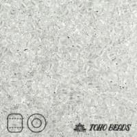 Японский бисер TOHO 15/0, 10 гр. - TR15-1 - Прозрачный (Transparent), кристалл (Crystal)
