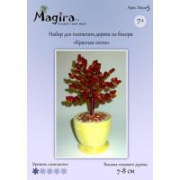 Набор для плетения дерева из бисера - Красная осень (7-8 см)