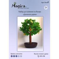 Набор для плетения дерева из бисера - Денежное дерево (15-20 см)