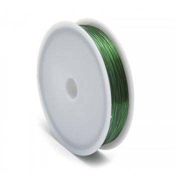 Проволока для бисера стальная Китай 0,3мм 50м (зеленый)