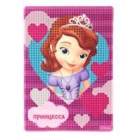 """Алмазная мозаика для детей""""Настоящая принцесса"""" София Прекрасная, ёмкость, стержень, клеевая подушечка, круглые стразы"""