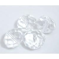 Бусины стеклянные граненые, прозрачные, 12 мм, 1шт