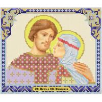 Канва под бисер Матрешкина - Св. Петр и св. Феврония, 24х20см