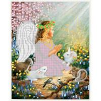 Канва под бисер Матрешкина - Ангел с животными, 20х24см