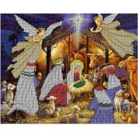 Канва под бисер Матрешкина - Рождество Христа, 34х27см