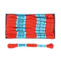 Мулине Гамма 8м 100% егип. хлопок - 0315 красно-оранжевый