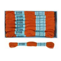 Мулине Гамма 8м 100% егип. хлопок - 0108 яр-оранжевый
