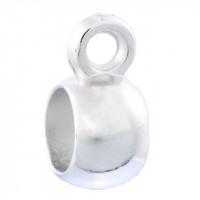 Бейл литой круглый гладкий, 11x5мм, под серебро, 1шт