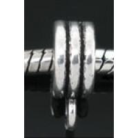 Бейл литой круглый с прорезями, 13x5мм, под серебро, 1шт