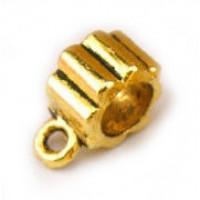 Бейл литой в форме шестерни, 12x5мм, под золото, 1шт