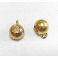 Бейл литой круглый гладкий, 15x10мм, под золото, 1шт (пластик)