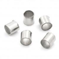 Зажимные бусины (кримпы) 2мм, темное серебро, 1 гр (~100 шт)