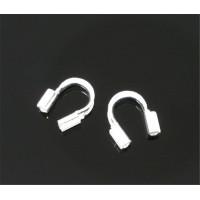 Протектор для тросика (защита), под серебро, 20 шт