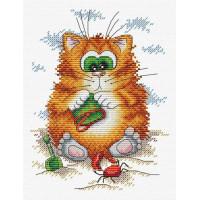 """Набор для вышивания """"Кот на пляже""""  М-148   2594827"""