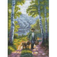 Набор для вышивания нитками PANNA ПС-1245 Воскресная прогулка