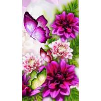 Набор для вышивания крестом Raduga (Paintboy) VS-0148 40х50 Бабочки в цветах