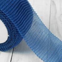 Лента капроновая гофрированная, 50мм, 1м, цвет синий