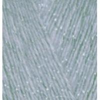 Пряжа AngoraGold Simli (Ангора голд Симли), ALIZE (Турция), 500м, 100гр, 10% мохер,10% шерсть, 75% акрил, 5% металлик -  21 - Серый