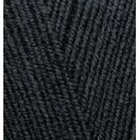 Пряжа LanaGold 800(Лана голд 800), ALIZE (Турция), 800м, 100гр, 49% шерсть, 51% акрил - 60 - Черный
