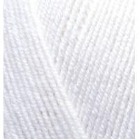 Пряжа LanaGold 800(Лана голд 800), ALIZE (Турция), 800м, 100гр, 49% шерсть, 51% акрил - 55 Белый