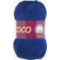 Пряжа COCO (КОКО), Vita Cotton (Индия), 240м, 50гр, 100% мерсеризованный хлопок, 3857 - Темно-синий