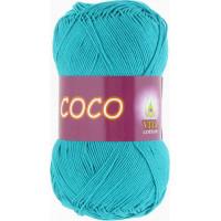 Пряжа COCO (КОКО), Vita Cotton (Индия), 240м, 50гр, 100% мерсеризованный хлопок, 4315 - Темно-голубая бирюза