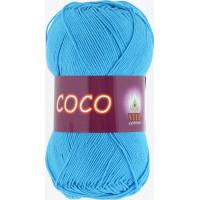 Пряжа COCO (КОКО), Vita Cotton (Индия), 240м, 50гр, 100% мерсеризованный хлопок, 3878 - Голубая бирюза